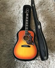Epiphone Hummingbird Pro. W hard case &leather strap (ALL BRAND NEW) Elec/Acoust