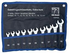 SW Stahl Gabel Ring Schlüssel Satz extra kurz 10-tlg. 10-19mm 00840L