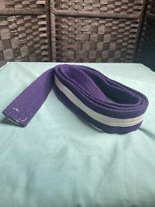 Taekwondo Belt Karate Judo Jiu jitsu Martial Arts Purple Belt w/ WHITE Stripe