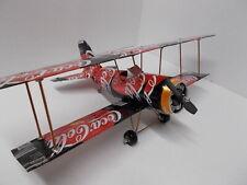 Aluminum soda can handcrafted airplane/COKE ZERO ORANGE/BI-PLANE