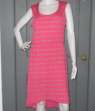NWT womens ICEBREAKER Merino wool CRUSH dress L Shocking Metro stripe NEW summer