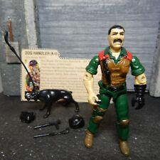 GI JOE ~ 1984 MUTT & JUNKYARD ~ DOG HANDLER K9 UNIT  ~ 100% complete & FILE CARD