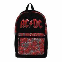 AC/DC Logo Pocket Print Laptop Backpack - School Uni Bag