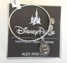 Disney Alex and Ani SILVER Haunted Mansion Gate Sign Plaque Bangle Bracelet New