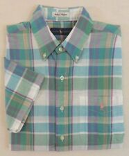 Polo Ralph Lauren Aberdare Plaid Pony Patch Pocket Short Slevs Classic Shirt XLT