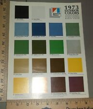1973 AMC Exterior Paint Colors Brochure Original