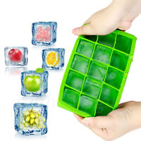 15-Cavity Large Cube Ice Pudding Jelly Soap Maker Mold Mould Tray Silicone Tool