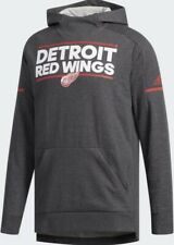 Men's SM Detroit Red Wings NHL Adidas Dark Grey Center Ice Squad Hoodie D78433