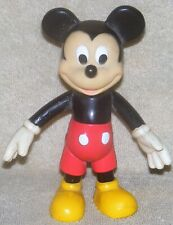 """New listing Vintage Disney Mickey Mouse Vinyl 6 1/2"""" Articulated Toy Action Figure"""