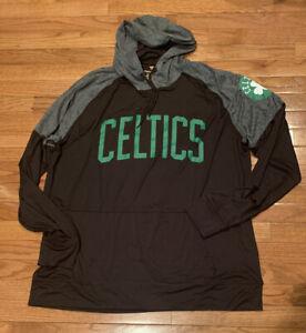 Men's Boston Celtics Fanatics Branded Raglan Pullover Hoodie NWOT 2XL
