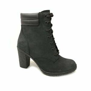 Timberland Women's TILLSTON 6 Inch High Heel Nubuck Leather Boots Black A1H1I f