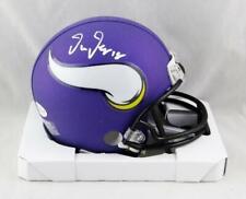 Justin Jefferson Autographed Minnesota Vikings Mini Helmet-Beckett W Auth *White