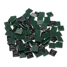 100Pcs 13mmx13mmx4mm Square Self Adhesive Cable Tie Base Mounts for 3mm Zip Tie