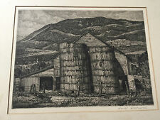 "Antique Luigi Lucioni Pencil Signed ""Shadow and Substance"" Black White Etching"