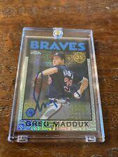 Greg Maddux Signed Topps Chrome Card Psa Dna Coa Autographed Atlanta Braves