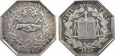 Jeton des Notaires de Provins, par Barre, ancre, 1824, argent, SUP+, RARE - 22