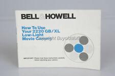 BELL & HOWELL 2220 GB/XL Movie Camera Super 8 Guide ORIGINAL INSTRUCTION MANUAL