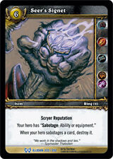 WOW Warcraft TCG ARCHIVES FOIL : SEER'S SIGNET X 4