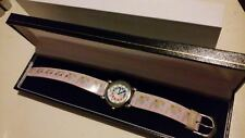BARBIE Time Teacher Girls' Quartz Wrist Watch with Pink Resin Strap in Box****