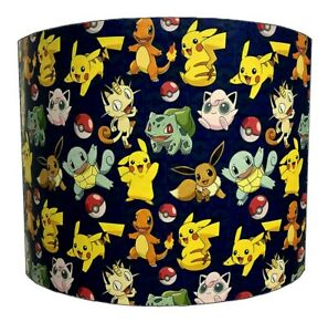 Pokemon Lampshades, Ideal To Match Pokemon Wallpaper & Pokemon Duvet Covers.