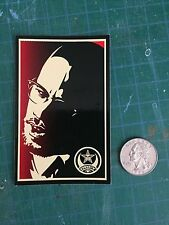 Shepard Fairey Obey Giant sticker, Malcolm X