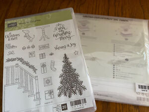 READY FOR CHRISTMAS Stamp Set CHRISTMAS STAIRCASE Framelits By Stampin Up New