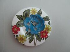1 x 5cm Wooden Button Printed Pattern   4 Holes No.1528