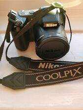 nikon coolpix l340 black + lexar sd card 64GB