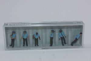 Preiser 10798 US Autoroute Patrolmen 6 Figurines H0 1:87 Neuf Dans Emballage
