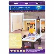 BRAND NEW PetSafe Freedom Aluminum Pet Door w/ Closing Panel Large for 1-100 lb