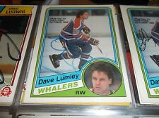 1984-85 OPC # 252 DAVE LUMLEY AUTOGRAPHED CARD