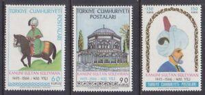 Turkey 1715-17 MNH 1966 Sultan Suleiman the Magnificent Set of 3 Very Fine