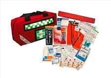 UFirst First Aid Kit : Drivers Safety in Portable Zippered Red Case