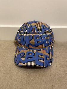 Burberry Check and Graffiti Cap 100% Authentic.