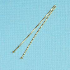 26 gauge 14k Solid Yellow Gold 1.5 INCH Flat Headpin (2)