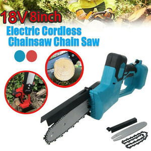 Cordless 8'' Electric One-Hand Wood Cutting Saw Chainsaw For Makita 18V Battery