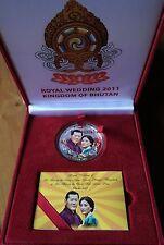 BHUTAN Royal Wedding Nu 500 Silver Coin In Original Box