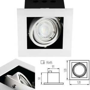 GU10 Tilt Angle Directional Recessed Ceiling Box Spotlight Downlight Adjustable