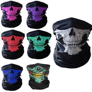 Outdoor Skull Bandana Bike Motorcycle Scarf Neck Face Mask Paintball Ski Helmet