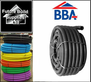 Twinwall Cable Ducting with Drawstring Black, Blue, Yellow, Green, Flexible