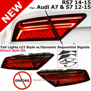 For 12-15 Audi S7 A7 14-15 RS7 LCI style LED Dynamic Sequential Signal Tail Lamp