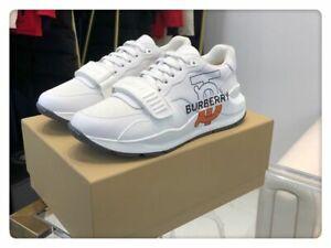 Burberry TB logo-print cotton canvas sneakers