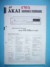 Service Manual-Anleitung für Akai VS-23 ,ORIGINAL