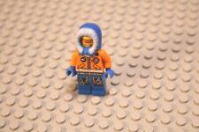 Nr.3019 Lego con006 Arbeiter in blauer Latzhose mit schwarzem Bauhelm