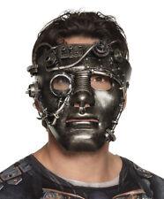 Mens Steampunk Mask Robot Maske Gothic Victorian Venetian Halloween Fancy Dress