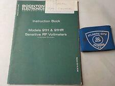BOONTON MODEL 91H & 91HR SENSITIVE RF VOLTMETERS INSTRUCTION BOOK