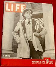 Life Magazine November 30, 1942 Ads Camel Cigarettes Budweiser Near Mint Cond.