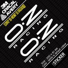 2 x OZ RACING Civic Accord EP3 s2000 Sticker Vinyl Funny JDM DRIFT