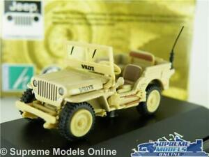 WILLYS JEEP CAR MODEL CJ-2A MILITARY ARMY OPEN 1:72 SIZE CARARAMA CREAM SAND T3