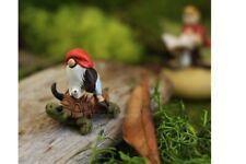 Miniature Dollhouse FAIRY GARDEN - Garden Gnome Riding On Turtle - Accessories